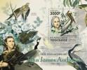 TOGO 2011 MNH** - John James Audubon, Birds S/S. Official Issue - Pelikanen