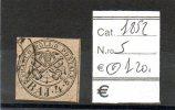 PON022 - 1852 STATO PONTIFICIO N. 5 USATO PERFETTO CAT. 120 EURO - Etats Pontificaux