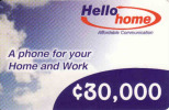 Ghana,, Hello Home Prepaid Carte - Ghana