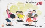Télécarte Japon - JTB - Jeu Enfants Corde à Sauter - Game Japan Phonecard - Spiel Telefonkarte - 458 - Jeux