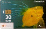 TARJETA DE CROACIA DE UN PEZ AMARILLO (PEZ-FISH) TRANSPARENTE - Fish
