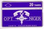 NIGER TELECARTE LANDIS AND GYR PHONECARD CROIS AGADEZ CROSS  20 TAXES TRES VERY RARE 1994-5