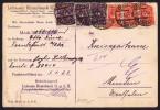 Jan. 1923  Von Frankfurt (Oder) MiNr 224 X 3, 225 X 3 - Briefe U. Dokumente