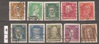 GERMANIA,1926/27, Uomini Illustri, 10 Valori Usati - Gebruikt