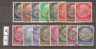 GERMANIA,1932/33, Hindemburg, 16 Valori Usati - Gebruikt