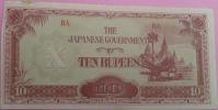 10  (TEN) RUPEES BURMA  [X]  1942 Japanese Government - BA  / Pick 16A - Myanmar