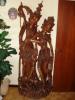 Uniek & Prachtig Gesculpteerd Beeld - Handsnijwerk Uit Bali - Afbeelding Man & Vrouw - Bois