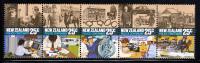 New Zealand Scott #843 MNH Strip Of 5: Centenary Of Police Force Act - Police - Gendarmerie