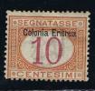 Italy: Eritrea, 1903,  Michel P2 I Aufdruck Oben, Segnatasse MH / Neuf* - Eritrea