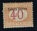 Italy: Eritrea, 1903,  Michel  P 5 I Aufdruck Oben, Segnatasse MH / Neuf* - Eritrea