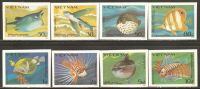 Vietnam 1984 Mi# 1432-1439 U (*) Mint No Gum - Imperf. - Fishes - Fishes