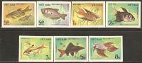 Vietnam 1984 Mi# 1453-1459 U (*) Mint No Gum - Imperf. - Ornamental Fishes - Vietnam