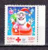 FRANCE / 2001 / Y&T N° 3436a ** : Croix-Rouge (Boule Père Noël) De Carnet BdC D - Gomme Intacte - Francia