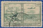 1949 - Europe De L'est - Tchécoslovaquie - 75 Ans De L' U.P.U. - 13 K Vert - - Tchécoslovaquie