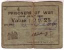 1939-1947 // Bon De Prisonnier De Guerre // Camp Américain Du Havre // 0.25 Centimes - Bonds & Basic Needs