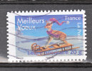 """FRANCE / 2007 / Y&T N° 4122 Ou AA 142 : """"Voeux"""" (faon) - Usuel (MARGE G = 4 X MARGE D) - Variedades Y Curiosidades"""