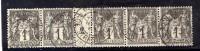N° 83 X 5 ( Céres 2008 ) 1c Sage Millésime 2 T.P. Ob Paris R De Stasbourg 93. - Marcophily (detached Stamps)