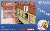 TELECARTE CHINA TELECOM.. TINTIN.....LES TRAINS DES RECORDS..... RARE!!!!!   VOIR SCANNER - BD
