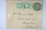 Ireland : Upgraded Stationary Cover Michel U7 Tyoe VIII With Additional Stamps, Used In 1938 To Haarlem Holland - Postwaardestukken