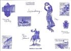 Capitales Européennes - Luxembourg - Documents De La Poste
