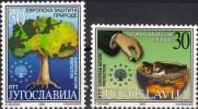 Yougoslavie Joegoslavie 2000 Yvertn° 2827 AB *** MNH Cote 7,00 Euro - Nuevos