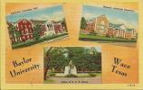 Baylor University, Waco, Texas, TX, 1930´s To 1950´s Linen Postcard # 7704 - Waco