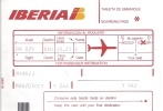 4 Cartes D´embarquement Iberia Pour Vol Virgin Express Madrid Bruxelles BQ 829 - Instapkaart