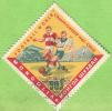 1962 - Asie - Mongolie - Coupe Du Monde De Foot Au Chili - Joueurs Et Stade  - 50 M Polychrome - - Coupe Du Monde