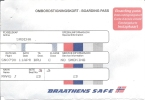 3 Cartes D´embarquement (boarding Pass) Braathens SAFE (Norvège) Vol SN790 Oslo - Bruxelles - Instapkaart