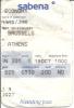 3 Cartes D´embarquement Sabena Pour Vol SN 301 De Bruxelles à Athènes - 22JAN - 02SEP - 15OCT - Instapkaart