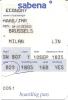 2 Cartes D´embarquement Sabena Pour Vol SN 807 De Bruxelles à Milan Linate - 08JAN - 10SEP - Instapkaart