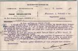 Belle Lettre Du 12/01/1943 - A. MENOUCOUTIN - BOLBEC - Mémorandum - à L. FOUCAULT & Cie - COGNAC - Italie