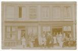 76 - ENVERMEU - CARTE PHOTO - CAFE RESTAURANT DU COMMERCE - P. QUATRESOUS   - Un Peu Pale Voir Scans - Envermeu