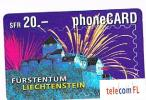 LIECHTENSTEIN   - TELECOM FL    ( REMOTE) - VADUZ CASTLE   20   - USED  -  RIF.  776 - Liechtenstein