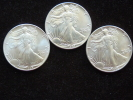 Estados Unidos United States  3x 1 Dollar 1 Oz Troy Silver Plata Argent 0,999 Liberty 1988-87-86 Uncirculated - 1979-1999: Anthony