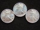 Estados Unidos United States 3x 1 Dollar 1 Oz Troy Silver Plata Argent 0,999 Liberty 1989-90-91 Uncirculated - Federal Issues