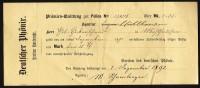 Deutscher Phönix, Section Karlsruhe, Prämien-Quittung Von 1892 ! - Historische Dokumente
