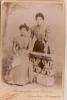 Deux jeunes femmes/ tenuebougeoise/R. GAUTIER/Saint Germain en laye /vers 1890-1900   PH38