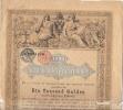 Staatsschuldverschreibung - Emprunt D´État - Autriche - 1000 Gulden (Florins) à 5% - 01-11-1868 - Actions & Titres