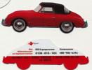 """Sprint, Prepaid Calling Card,  """"PORSCHE 356"""" Im Folder, Unbenutzt , 1. TK Ausgestanzt Weltweit !! - Schede Telefoniche"""