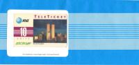 """AT & T, AEROPLAN, Calling Card,  """"New York City, Skyline"""" Mit World Trade Center, Ungebraucht - Phonecards"""