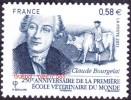France Autoadhésif N°  565 **  Ecole Vétérinaire Du Monde - Claude BOURGELAT - Autocollant ( BdF Possible) Vache - Adhesive Stamps