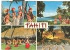 TAHITI -POSTCARD, COLORS, POSTAL STAMP PLATE THE NATURE, - Polinesia Francese
