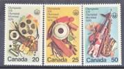 Canada 684-6  **  OLYMPICS  FINE  ARTS - Unused Stamps