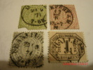 NORTH GERMAN CONFEDERATION, SCOTT# 4,#17,#17, & #O4, USED - North German Conf.