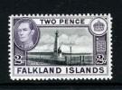 FALKLAND IS - 1938 KGVI TWO PENCE DEFINITIVE FINE MNH ** - Falkland Islands