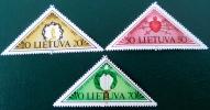 CINQUANTENAIRE DES EVENEMENTS TRAGIQUES 1991 - NEUFS ** - YT 410/12 - MI 477/79 - Lithuania