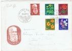 PRO JUVENTUTE 1959 Série Complète Sur Lettre Au Départ De Bethlehem Le 29.12.1959 Ange Musicien - Lettres & Documents