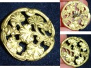 JOLI BOUTON VINTAGE*FEUILLES DE GINGKO BILOBA OUVRAGéES*ART NOUVEAU - Buttons