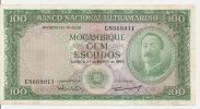 MOZAMBIQUE 100 ESCUDOS 1961 VF P 109 - Mozambique